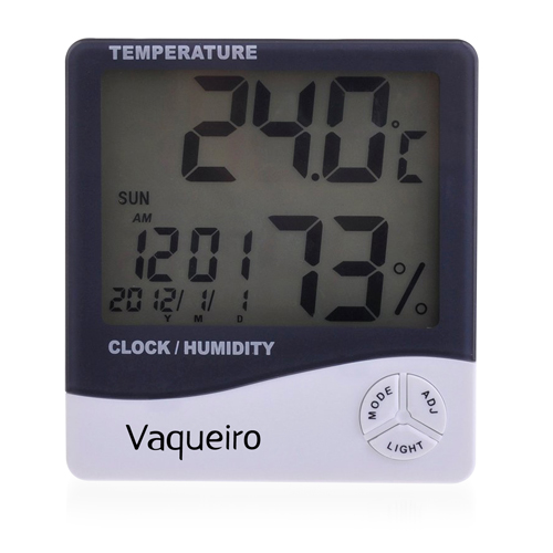 Digital LCD Temperature Alarm Clock Image 2