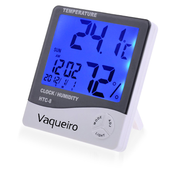 Digital LCD Temperature Alarm Clock