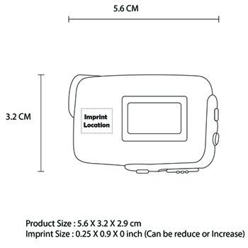 Digital Pedometer With LED Flashlight