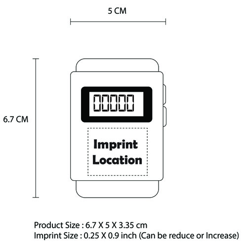 Digital Pedometer With FM Radio Imprint Image