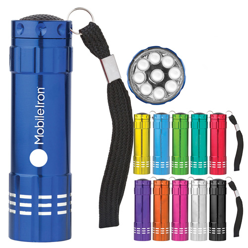 9 LED Aluminum Flashlight Image 1