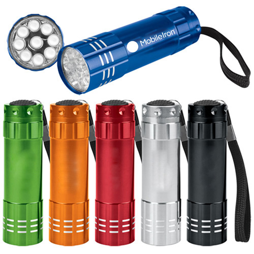 9 LED Aluminum Flashlight Image 2