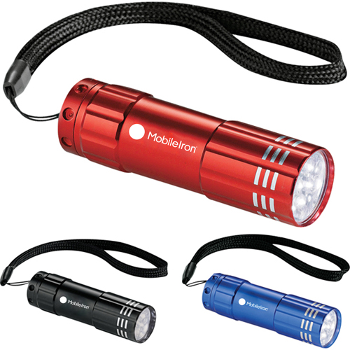 9 LED Aluminum Flashlight Image 7