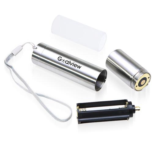Mini 700Lm Stainless Steel LED Flashlight
