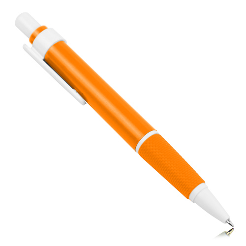 Retractable Textured Grip Ballpoint Pen Image 2