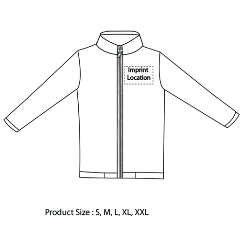 Full Zip Fleece Jacket Imprint Image