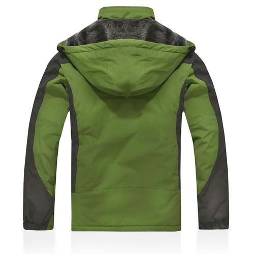 Polyester Fleece Jacket With Hoodie