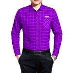 Men Long Sleeve Plaid Shirt