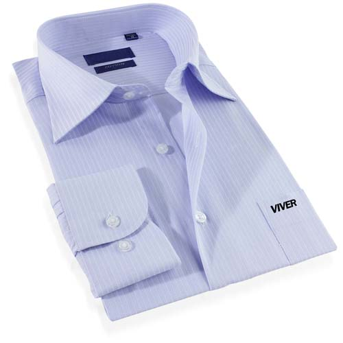 Mens Striped Cotton Dress Shirt