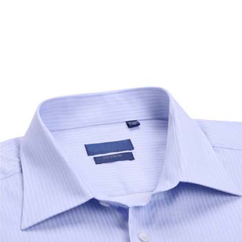 Mens Striped Cotton Dress Shirt