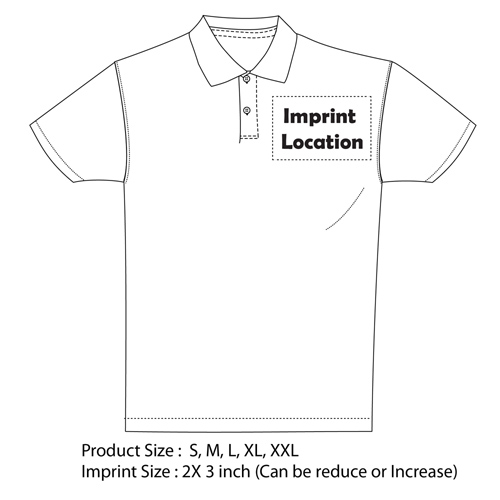 170Gsm Solid Cotton Polo Shirt Imprint Image
