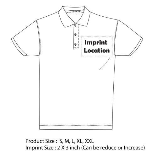 Trimmed Golf Polo Shirt Imprint Image