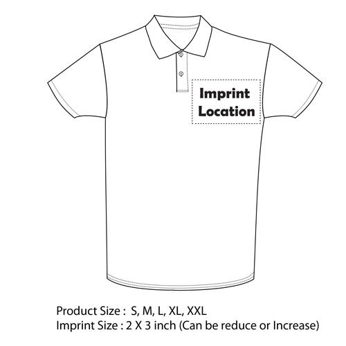 Cotton Slim Fit Polo Shirt Imprint Image