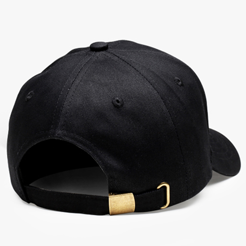 Cotton Baseball Cap With Metal Clasp