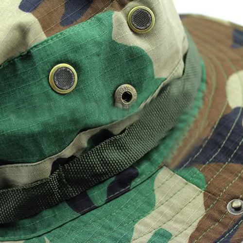 Camouflage Cotton Boonie Bucket Hat