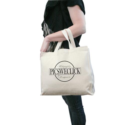 12 Oz Natural Canvas Shopping Bag