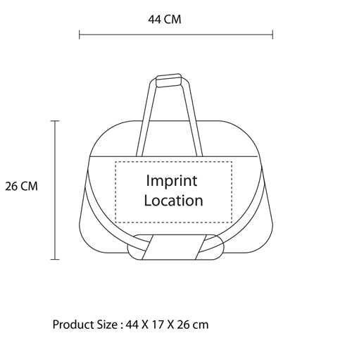 Large Capacity Duffel Bag Imprint Image