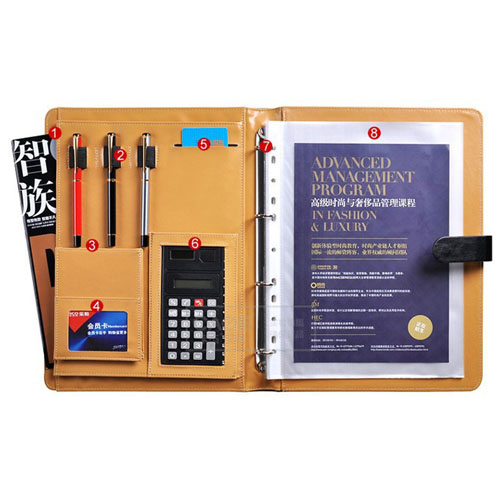 Multifunction Executive Leather Portfolio Image 1