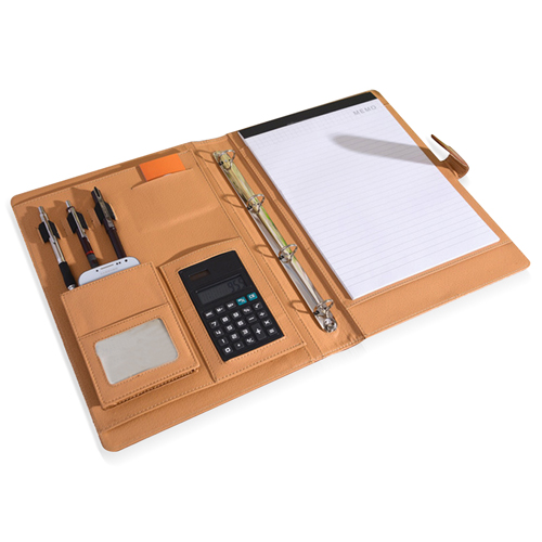 Fancy Leather Multifunction Folder With Calculator