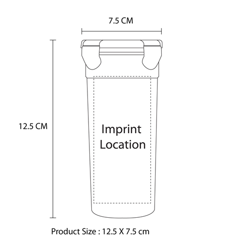 Airtight Beverage Shaker Cup