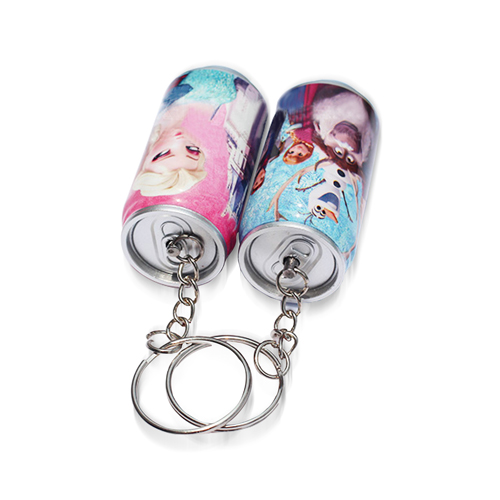 Can Shaped Telescopic Ballpoint Keychain Image 1