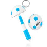 Football Shaped Keychain With Mini Pen