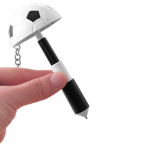Football Shaped Keychain With Mini Pen Image 4