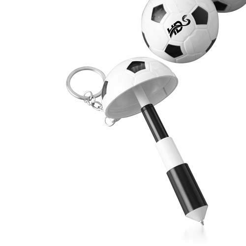 Football Shaped Keychain With Mini Pen Image 8
