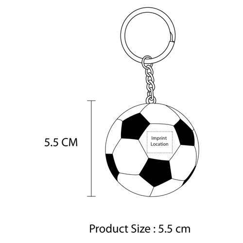 Football Shaped Keychain With Mini Pen Imprint Image