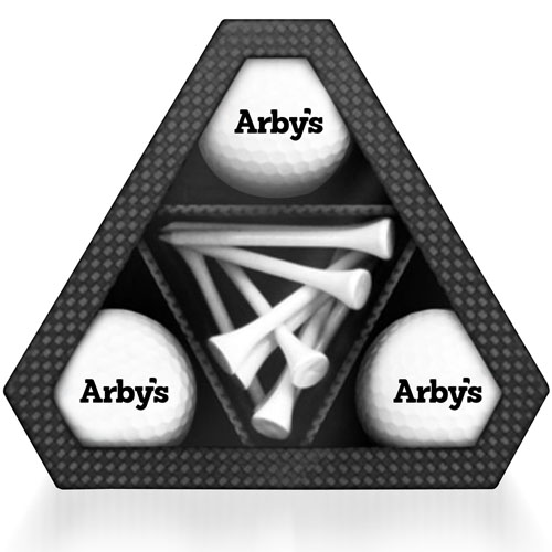 Triangle Golf Ball Tees Box