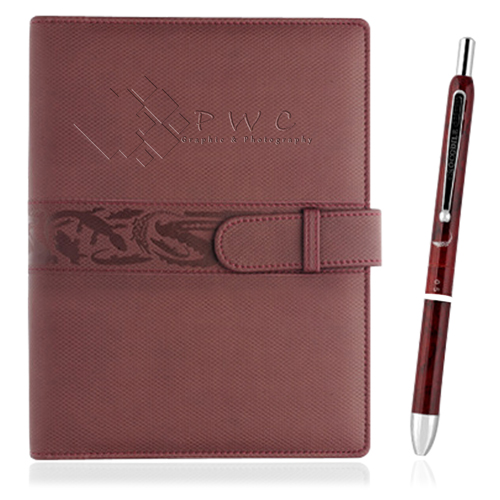 Executive Leather Portfolio With Pen