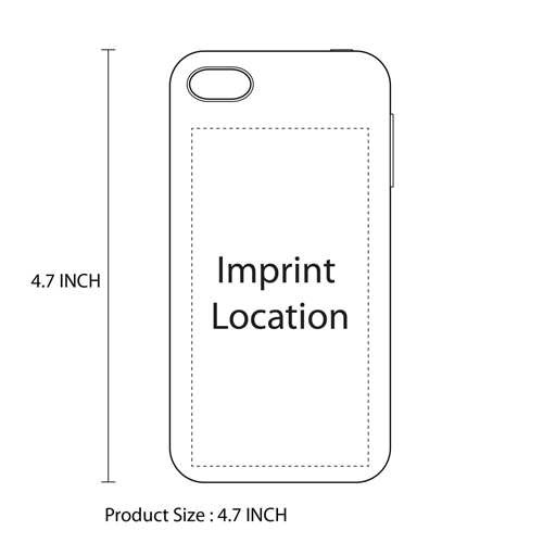 Silicone Soft Protective iPhone Case Imprint Image