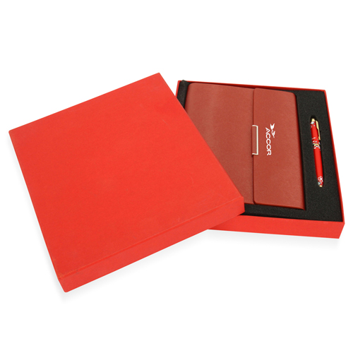 Executive Hardcover Notebook With Pen