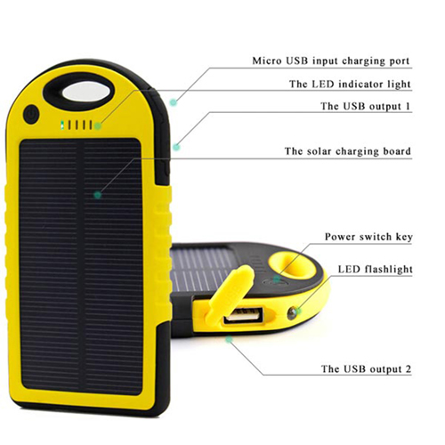 5000mAh Solar Charger Power Bank Image 5