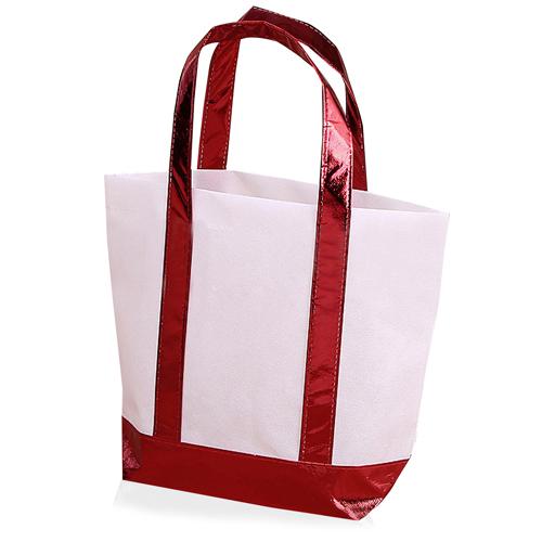 Non Woven Tote Bag With Metallic Trim