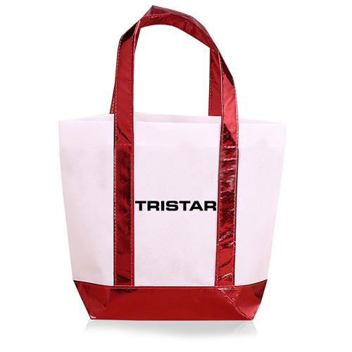 Non Woven Tote Bag With Metallic Trim Image 2