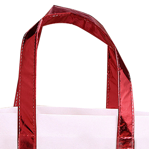 Non Woven Tote Bag With Metallic Trim Image 3