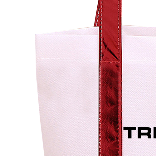 Non Woven Tote Bag With Metallic Trim Image 4