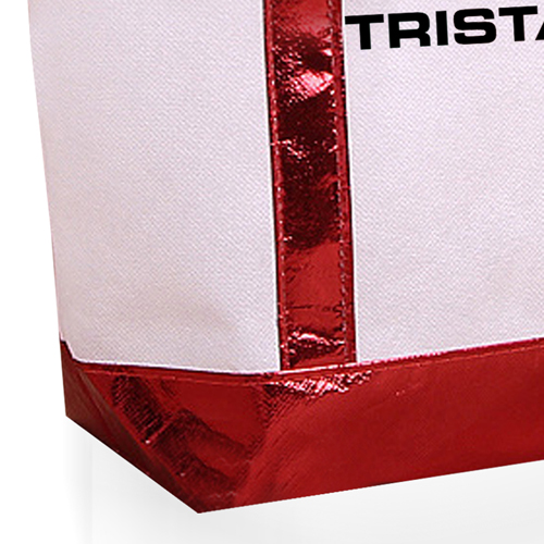 Non Woven Tote Bag With Metallic Trim Image 5