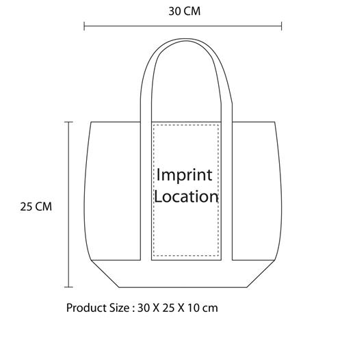 Non Woven Tote Bag With Metallic Trim Imprint Image