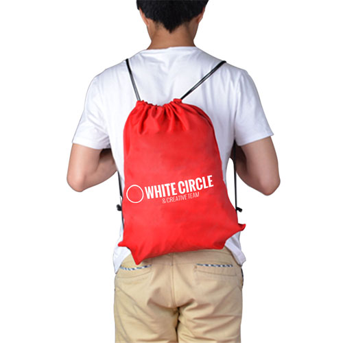 210D Polyester Custom Drawstring Backpack Image 2