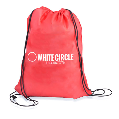 210D Polyester Custom Drawstring Backpack Image 3