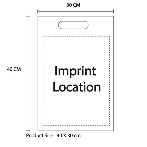Die-Cut Non-Woven Bag Imprint Image