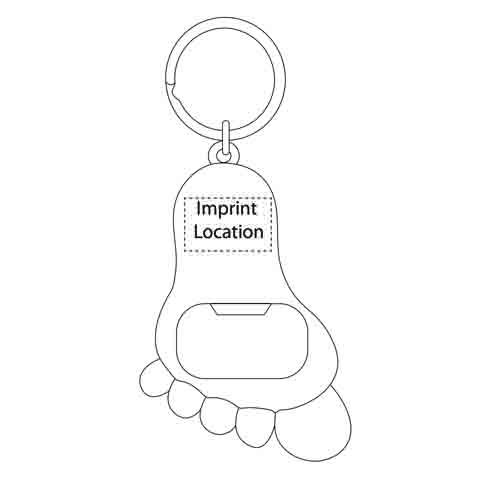 Metal Feet Bottle Opener Keychain