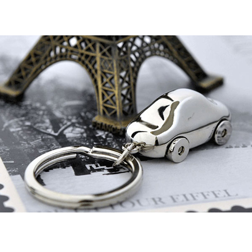 Metal Car Shaped Keychain Image 3