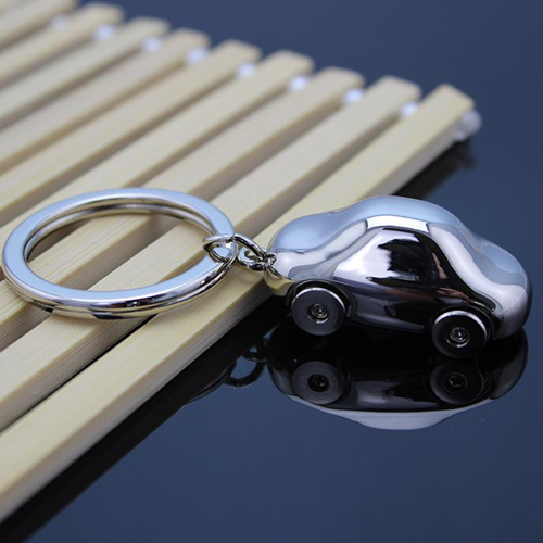 Metal Car Shaped Keychain Image 4