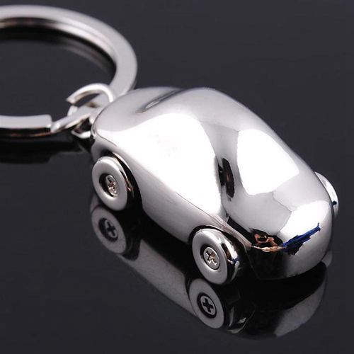 Metal Car Shaped Keychain Image 6