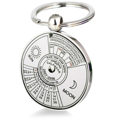 Unique Perpetual Calendar Keychain