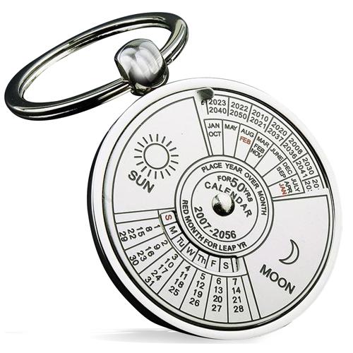Unique Perpetual Calendar Keychain Image 2