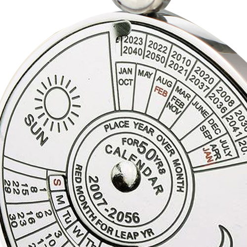 Unique Perpetual Calendar Keychain Image 4